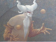 Juggler 1980 43x35  Original Painting by Michael Parkes - 2