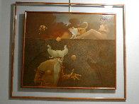 Juggler 1980 43x35  Original Painting by Michael Parkes - 1
