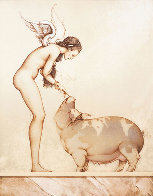 An Angel's Touch Limited Edition Print by Michael Parkes - 0