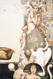 Angel That Stops Time 1992 Limited Edition Print by Michael Parkes