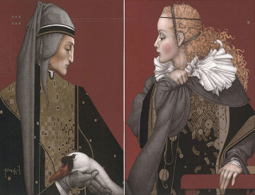 Dante and Beatrice Set of 2  Limited Edition Print by Michael Parkes