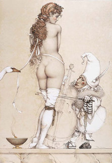 Music Master 1994 Limited Edition Print by Michael Parkes