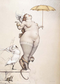 Rain Limited Edition Print by Michael Parkes