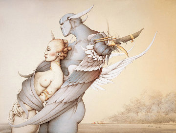 Diamond Warrior Limited Edition Print - Michael Parkes