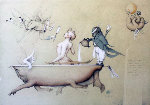 Running the Bath 1990 Limited Edition Print - Michael Parkes