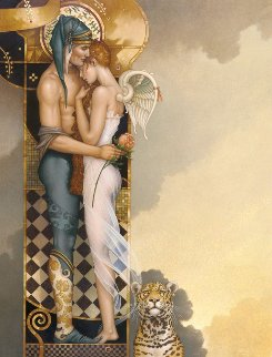 Last Peony 2005 Limited Edition Print by Michael Parkes