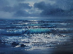 Evening Tide 1979 27x32 Original Painting - Violet Parkhurst