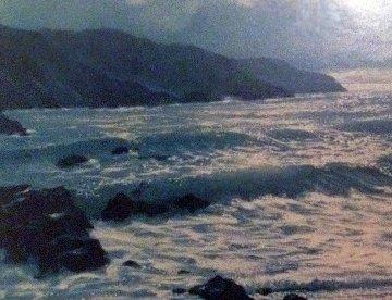 Ocean 1975 28x58 Original Painting by Violet Parkhurst