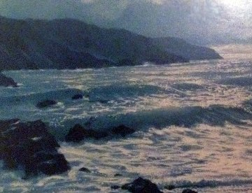 Ocean 1975 28x58 Original Painting - Violet Parkhurst
