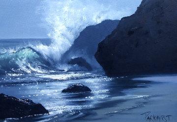 Malibu Wave 1960 28x33 Original Painting - Violet Parkhurst