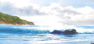 Breaking Thru 1981 36x60 Huge  Original Painting - Violet Parkhurst