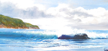 Breaking Thru 1981 36x60 Original Painting by Violet Parkhurst