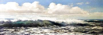 Open Ocean 1972 32x56 Huge Original Painting - Violet Parkhurst