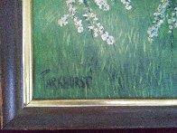 Untitled landscape 1951 24x48 Early Work Huge Original Painting by Violet Parkhurst - 3
