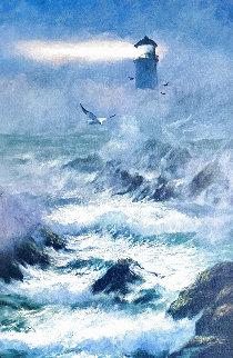Incoming Fog -  San Francisco 2007 39x27 Huge Original Painting - Violet Parkhurst