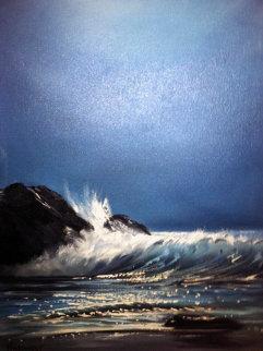 Seascape 1955 50x30 Huge Original Painting - Violet Parkhurst