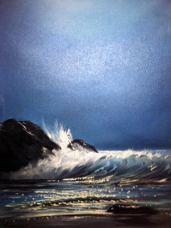 Seascape 1955 50x30 Super Huge Original Painting - Violet Parkhurst