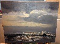 Carmel Seas, California 24x40 Original Painting by Violet Parkhurst - 1