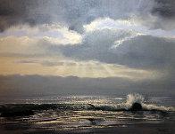 Carmel Seas, California 24x40 Original Painting by Violet Parkhurst - 0