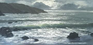 Seascape 1967 24x48 Original Painting - Violet Parkhurst