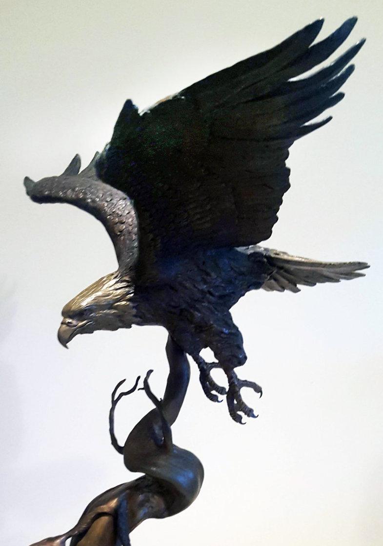 When the Eagle Flies Bronze Sculpture 1984 27 in Sculpture by Steve Parks