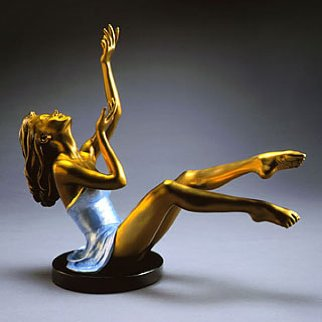 Elation Bronze Sculpture 2000 17 in Sculpture by Ramon Parmenter