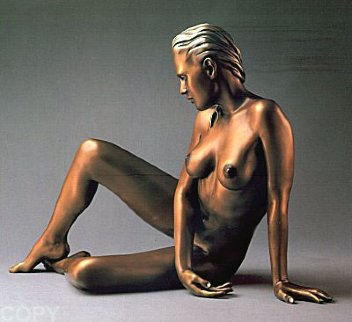 Timeless Innocence Nude Sculpture AP  1986 Sculpture - Ramon Parmenter