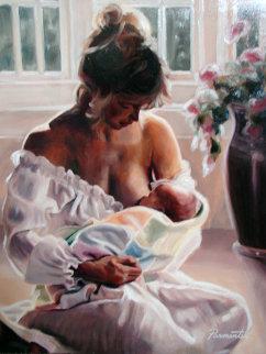 Precious Moments 2006 24x20 Original Painting - Ramon Parmenter