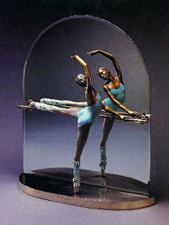 At the Barre Bronze Sculpture 1987 Sculpture by Ramon Parmenter