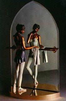Reverie Bronze Sculpture 1995 32x20 Sculpture by Ramon Parmenter