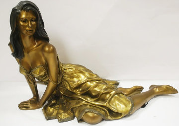 Tranquility Bronze Sculpture 1999 26 in Sculpture by Ramon Parmenter