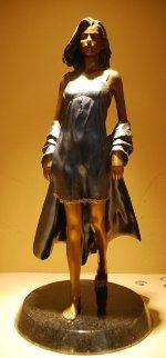 Summer Breeze Bronze Sculpture 1996 24x12 Sculpture by Ramon Parmenter