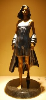Summer Breeze Bronze Sculpture 1996 24x12 Sculpture - Ramon Parmenter