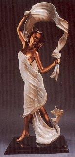 Windswept Bronze Sculpture 48 in Sculpture by Ramon Parmenter