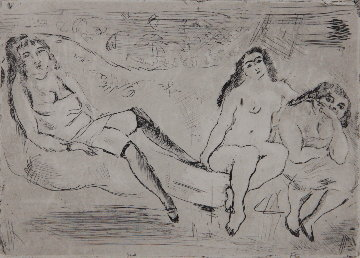 Erotic Scene Limited Edition Print - Jules Pascin