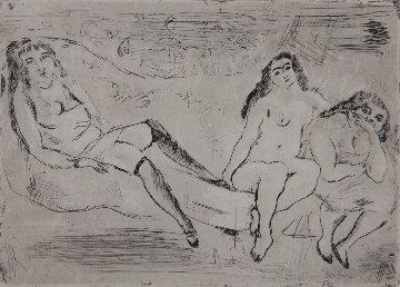 Erotic Scene Limited Edition Print - Jules Pascin