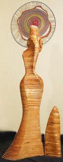 Twisting Lady Wood Sculpture Sculpture by Jitendra Patel