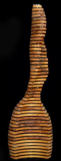 Twisting Torso Wood Sculpture Sculpture by Jitendra Patel