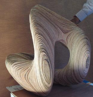 Rhythmic Shape 2010 24 in Sculpture - Jitendra Patel