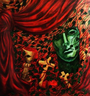 Italian Memory 1991 36x36 Original Painting - Patssi Valdez