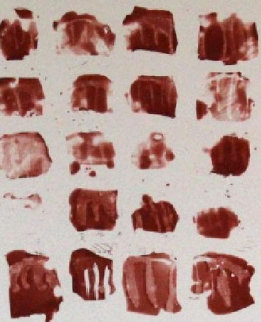 Little Red Shapes 1991 Limited Edition Print by Pat Steir