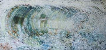 Wave After Hiroshige Original Painting - Pat Steir