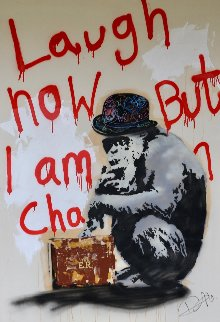 Laugh Now But I Am in Charge 2014 58x40 Huge Original Painting - Dom Pattinson