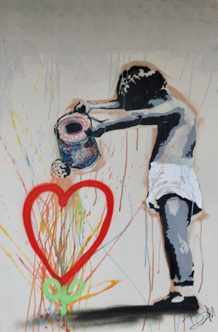 Let It Grow 2014 54x36 Super Huge Original Painting by Dom Pattinson