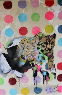 Coming Through 2014 54x37 Huge Original Painting - Dom Pattinson