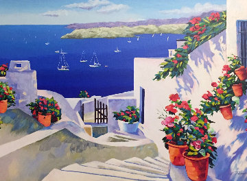 Angel Bay AP 2005 Embellished Greece Limited Edition Print - Alex Pauker
