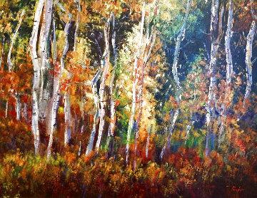 El Bosque 43x36 Huge Original Painting - Alex Pauker
