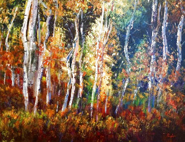 El Bosque 43x36 Super Huge Original Painting - Alex Pauker