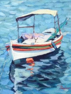 Boat Canopy 2013 22x20 Original Painting - Alex Pauker
