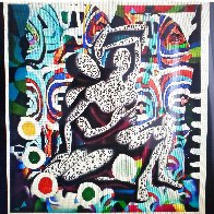 Embracing the Future 2017 HS by 3 Artists Limited Edition Print by Paul Kostabi - 1